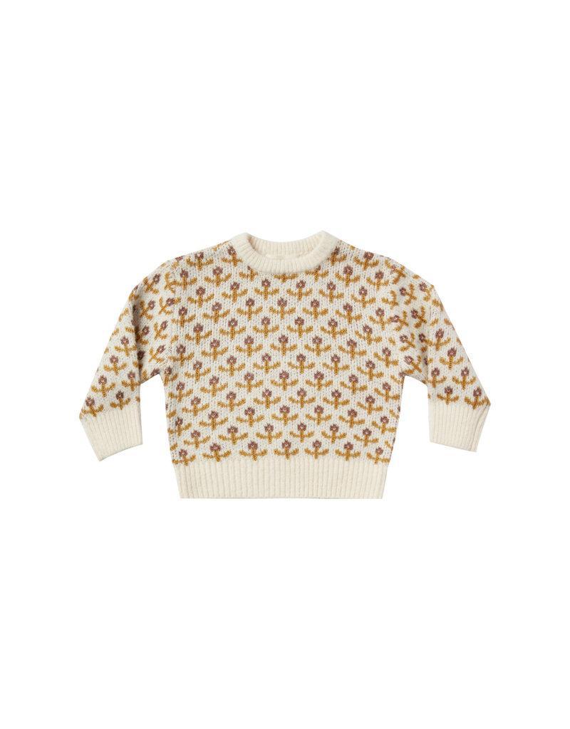 Rylee and Cru Kids Flower Stitch Knit Sweater