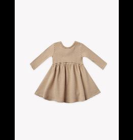 Rylee and Cru Longsleeve Ribbed Walnut Stripe Dress