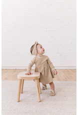 Rylee and Cru Longsleeve Ribbed Walnut Stripe Dress