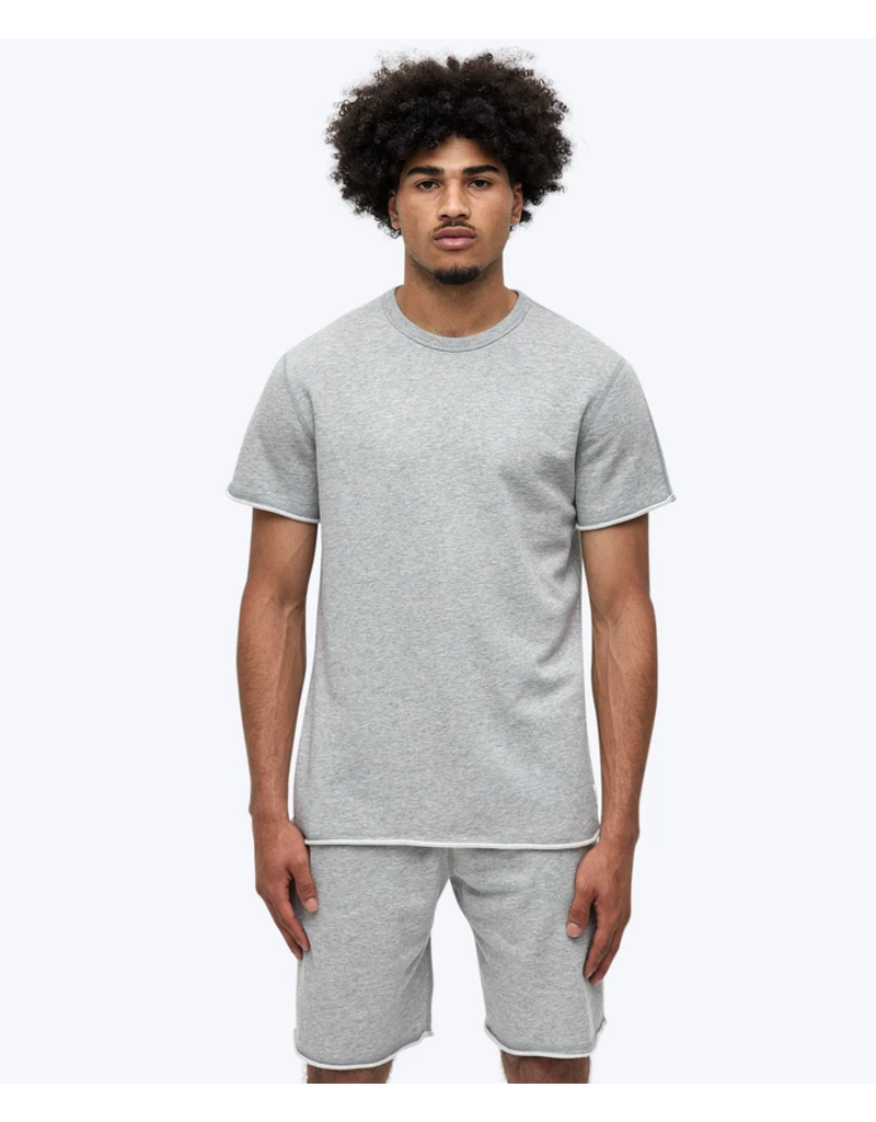 Reigning Champ Heather Grey Lightweight Terry Cut Off Crewneck
