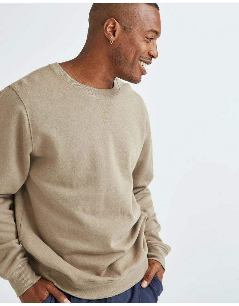 Richer Poorer Recycled Crew Sweatshirt Warm Grey
