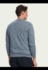 Scotch & Soda Slub Crewneck Sweater in Blue
