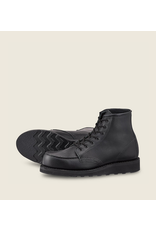 Redwing Heritage 6- Inch Black on Black Moc Toe #3380