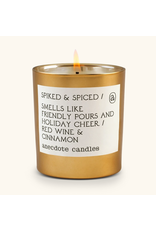 Anecdote Candles Spiked & Spiced 9 Oz Candle