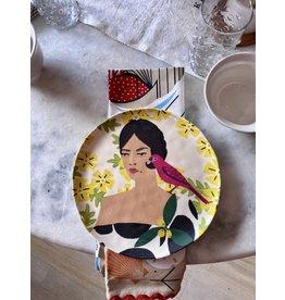 "One Hundred 80 Degrees Parrot On Shoulder 9 "" Plate"