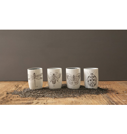 Creative Co-Op Bug Ceramic Tumbler