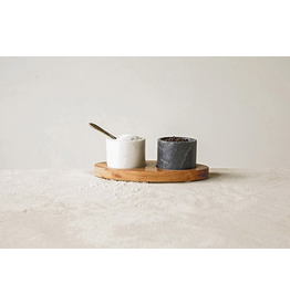 Creative Co-Op Marble Salt and Pepper