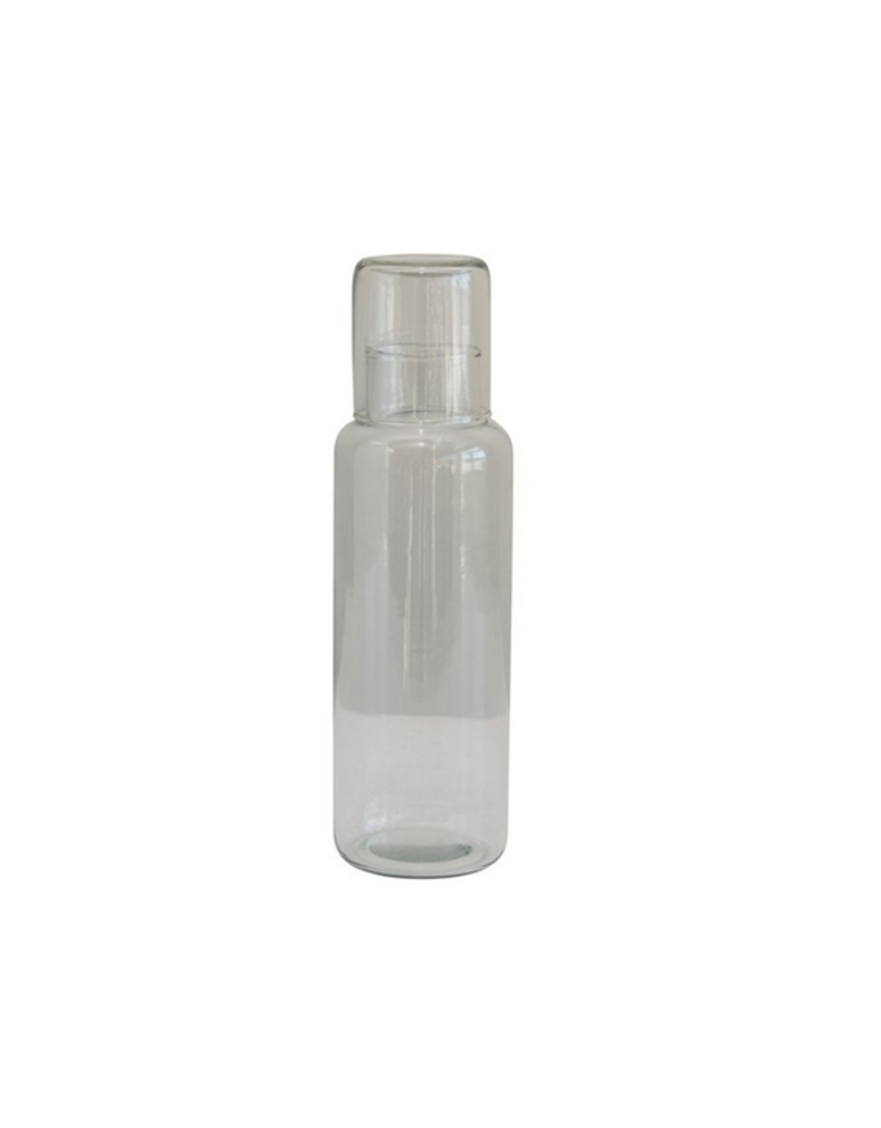 Creative Co-Op Glass Decanter with Drinking Glass