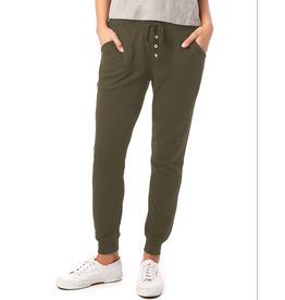 Alternative Apparel Vintage Oregano Thermal Button Front Jogger