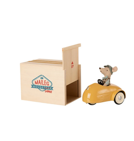 Maileg Yellow Mouse Car with Garage