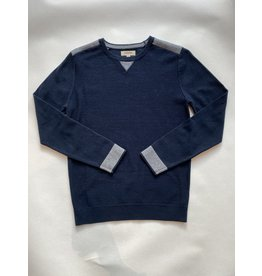 Barque Shoulder Contrast Crewneck Sweater
