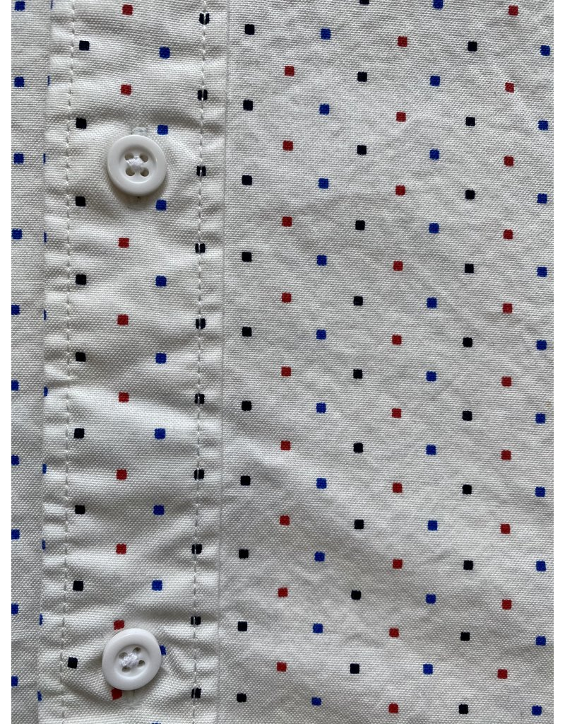 Scotch & Soda Red and Blue Dot Button Up