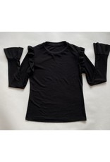 Beth Gaskill Black Long Sleeve with Ruffle