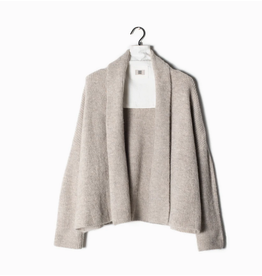 Look By M Ribbed Cropped Cardigan