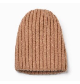 Look By M Taupe Reversible Sparkle Beanie