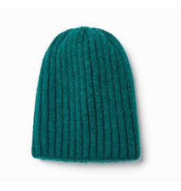 Look By M Hunter Green Reversible Sparkle Beanie