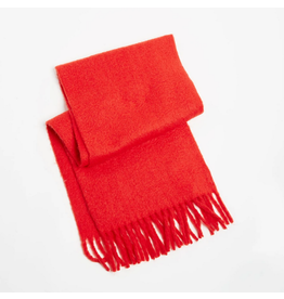 Look By M Soft Solid Red Scarf