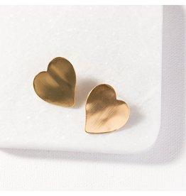 """Ink + Alloy Heart Post Earring 1"""""""