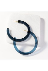 Ink + Alloy Lapis Lucite Hoop Earring 2.75""