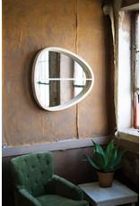 Kalalou Oval Wooden Wall Mirror with Shelf