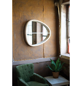 Kalalou Oval Wooden Wall Mirror with Shelf