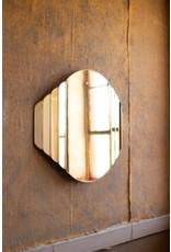 Kalalou Brass Framed Watch Design Mirror