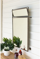 Kalalou Metal Framed Wall Mirror With Top Rotating Mirror