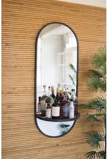 Kalalou Tall Oval Wall Mirror With Shelf