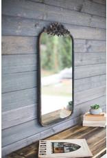 Kalalou Rectangle Metal Mirror With Flower Details