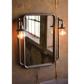 Kalalou Wall Mirror With Two Lights