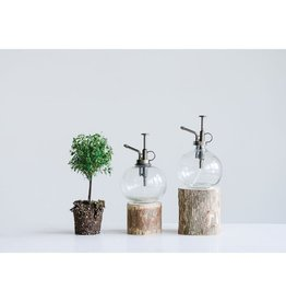 Creative Co-Op Glass  Round Plant Mister