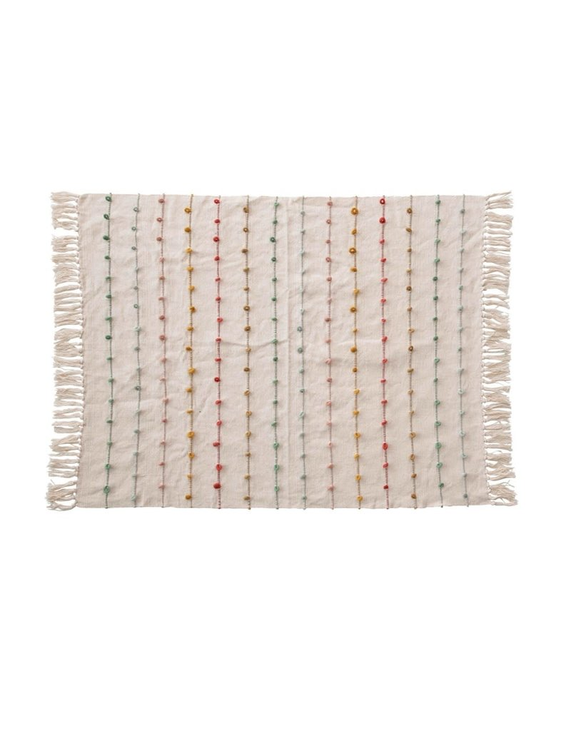 Creative Co-Op Looped Detailed Baby Throw