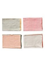 Creative Co-Op Striped Napkin Set of 4