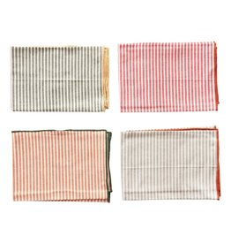 Creative Co-Op Striped Napkin Set of 4