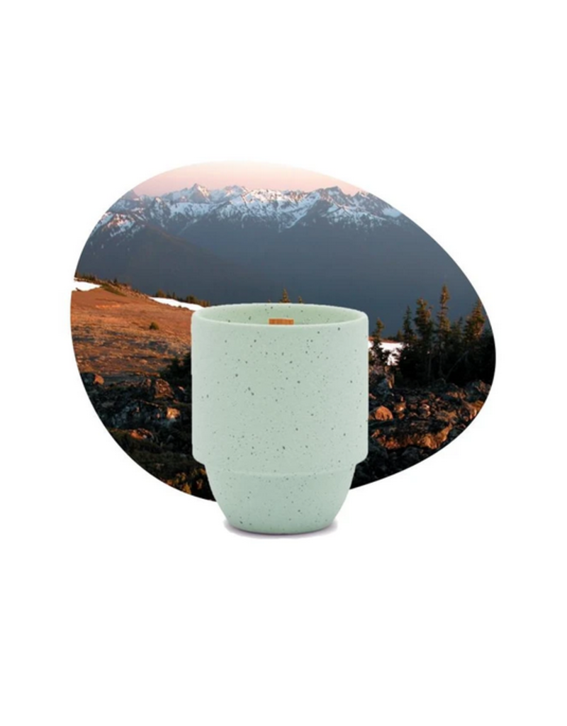 Paddywax National Parks Ceramic Candle  OLYMPIC PACIFIC MOSS + MINT