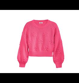 525 America Pink Bobble Crewneck Sweater