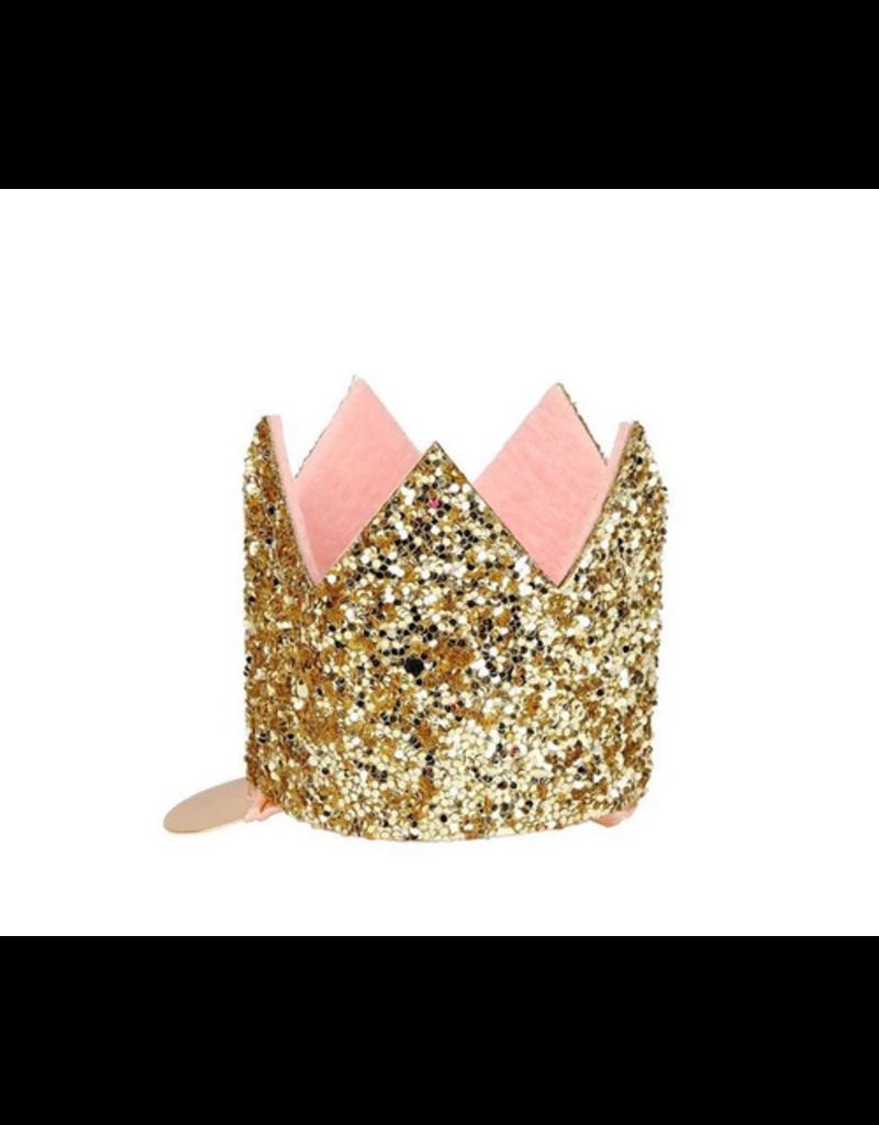 Meri Meri Mini Gold Glitter Crown hair Clip