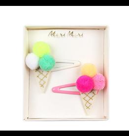 Meri Meri Pompom Ice Cream Hair Clips