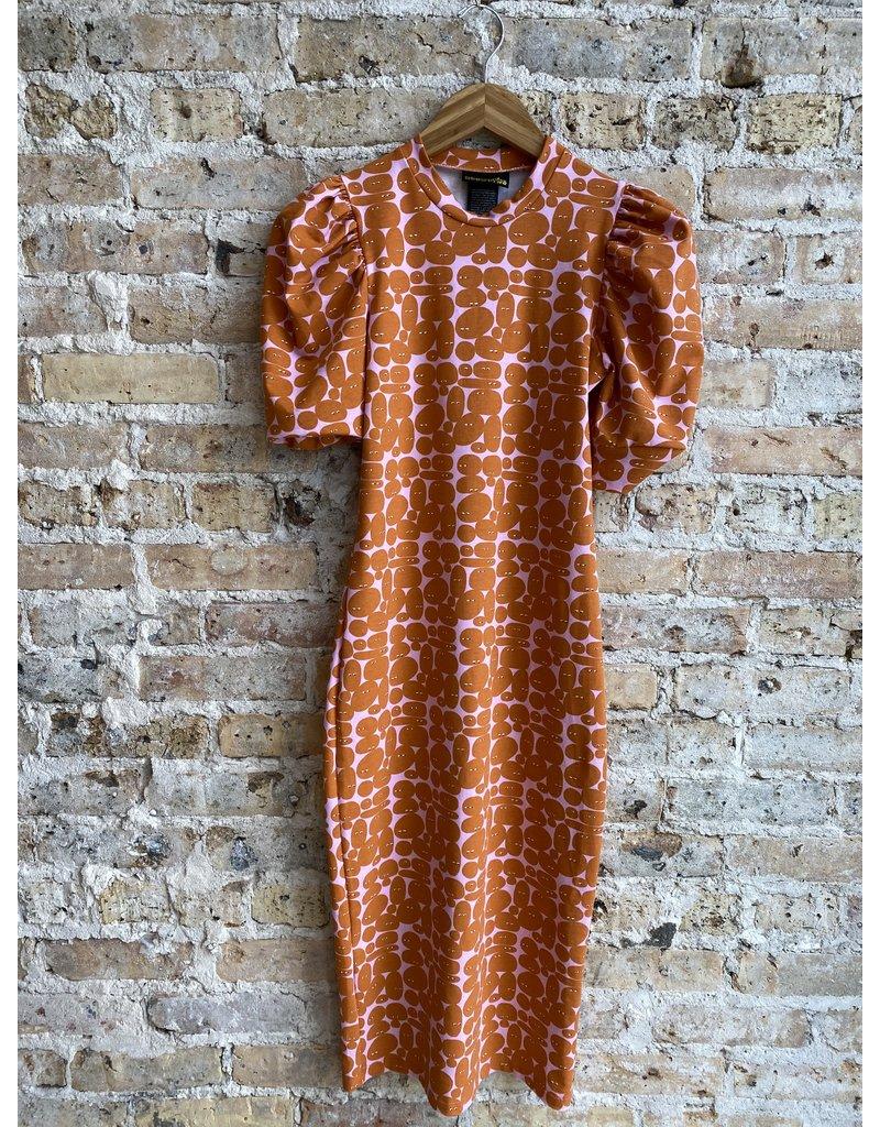 Nooworks Pebble People Puff Sleeve Dress