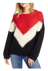 jennifer detrich smith The Anthem Colorblock Shaker Sweater Size L