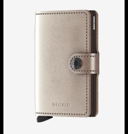 Secrid Secrid Miniwallet - Specialty Leather Metallic Champagne-Brown
