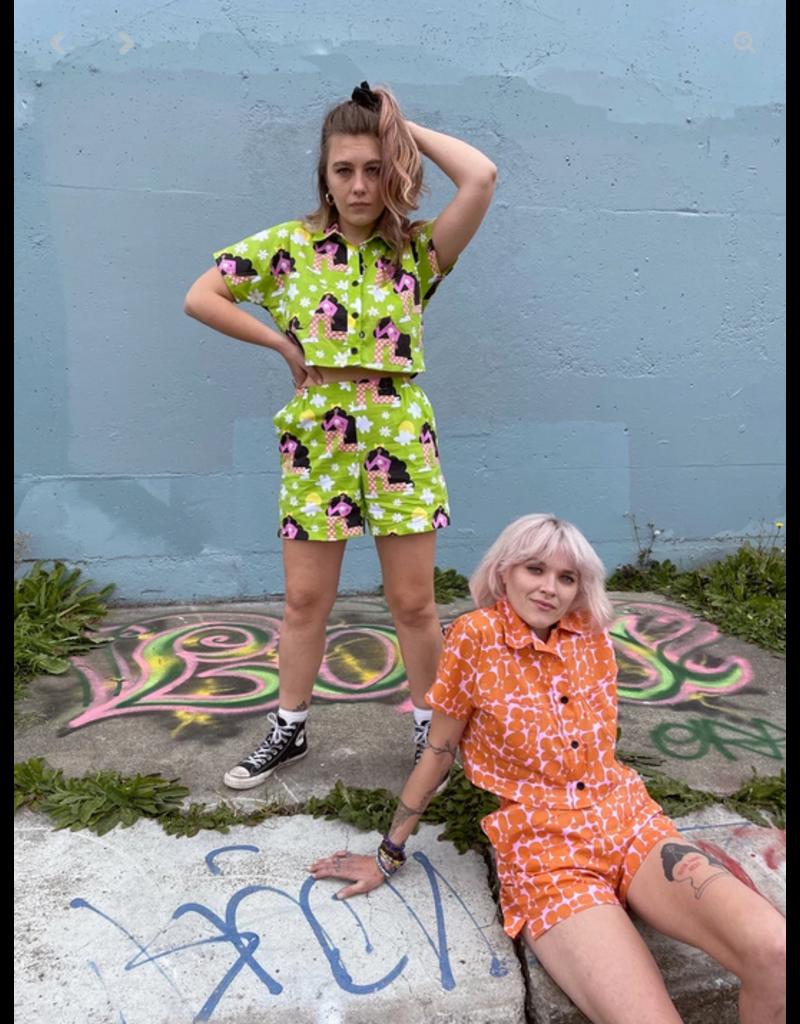 Nooworks Western Shorts Cherckered Ladies