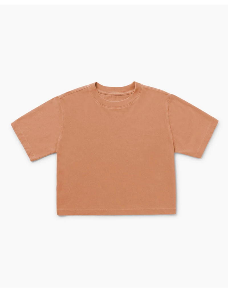 Richer Poorer Clay Relaxed Crop Tee