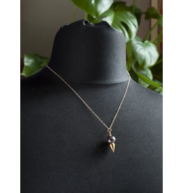 Wybo Peacock Pearl Spike Necklace