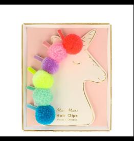 Meri Meri Pom Pom Unicorn Hair Clips