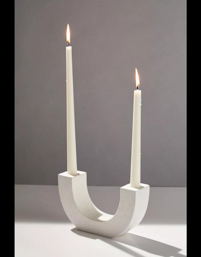 Paddywax White U Taper Candle Holder