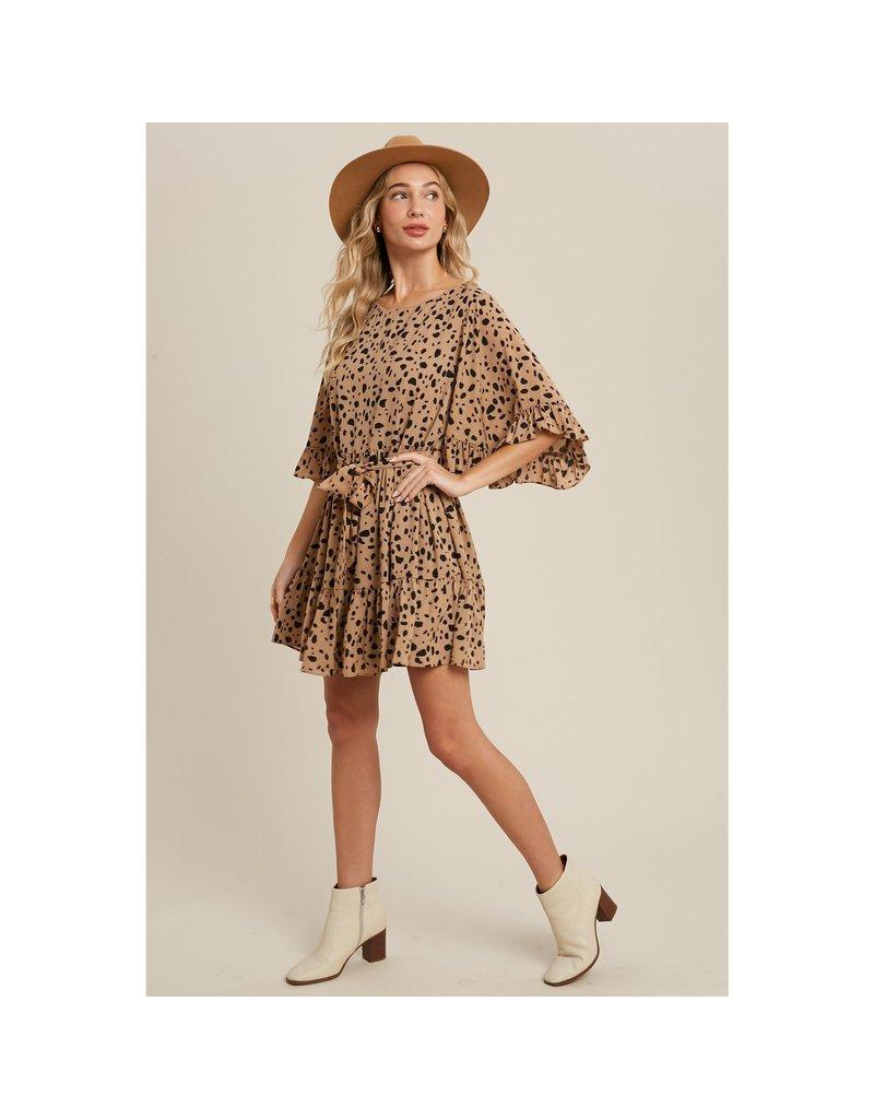 Bluivy Taupe Dalmatian Dress