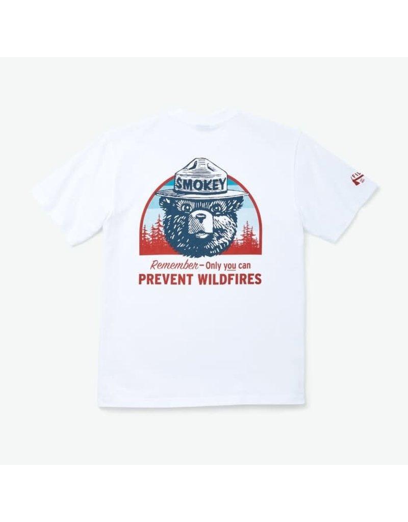 Filson White Smokey Bear Pioneer Graphic Tee