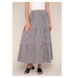 No Less Than Sadie Gingham Maxi Skirt