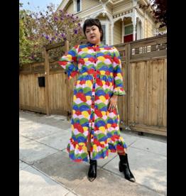 Nooworks Rainbow Lumps Olive Dress